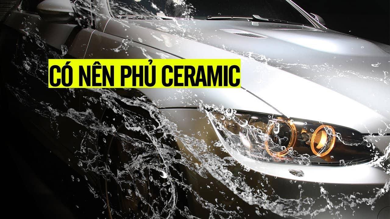 Phủ ceramic 9H xe ôtô giúp bảo vệ bề mặt sơn trước các tác động tự nhiên