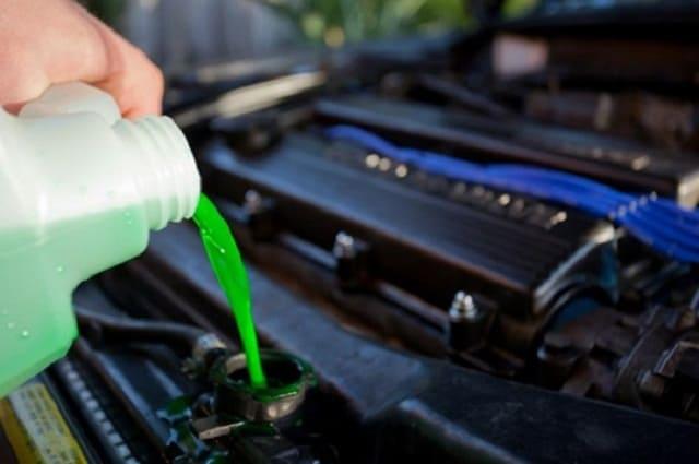 Châm nước làm mát chuyên dụng vào két nước của xe ô tô