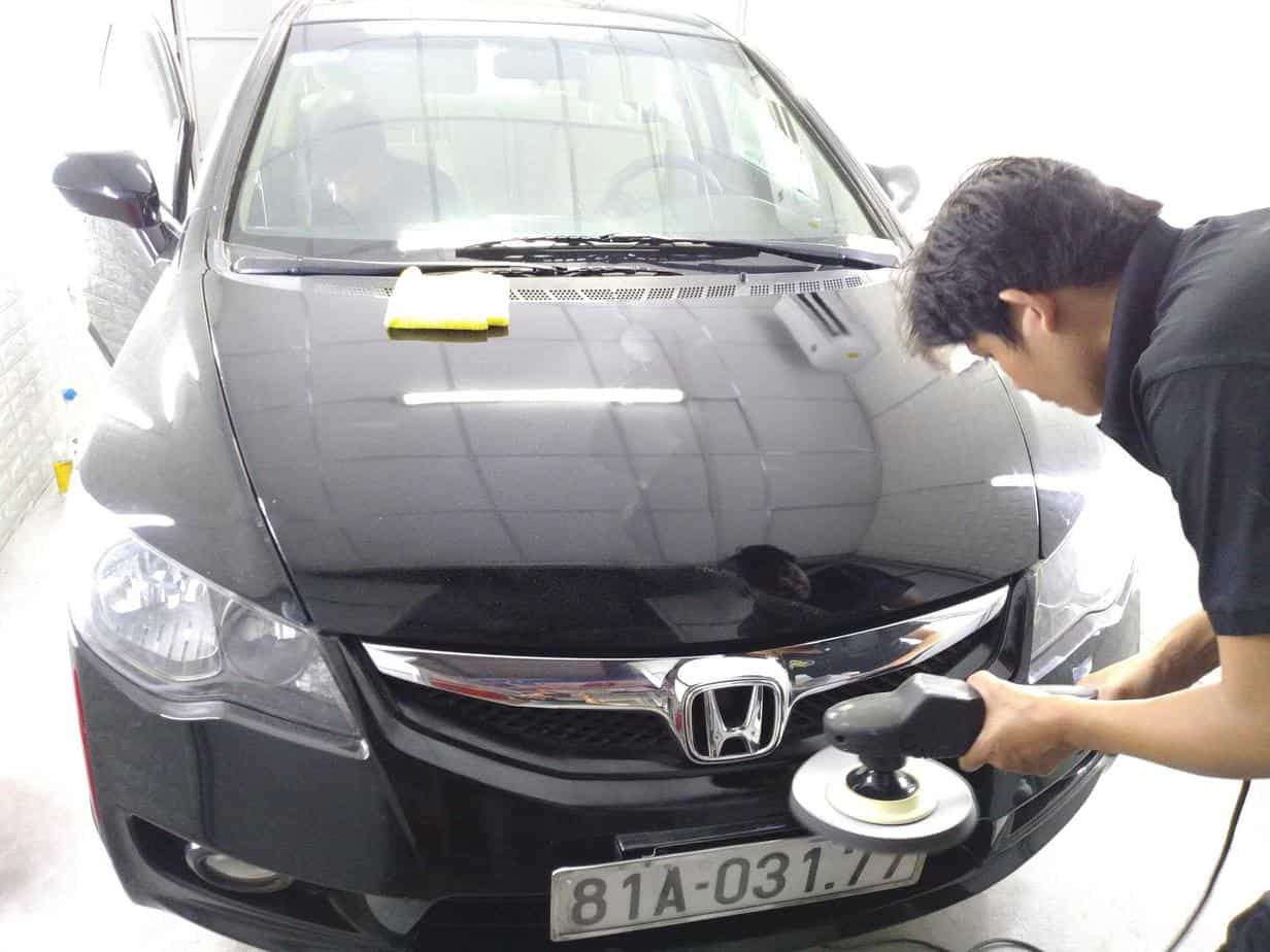 When cars have many scratches, you should take them to the garage to be painted miles