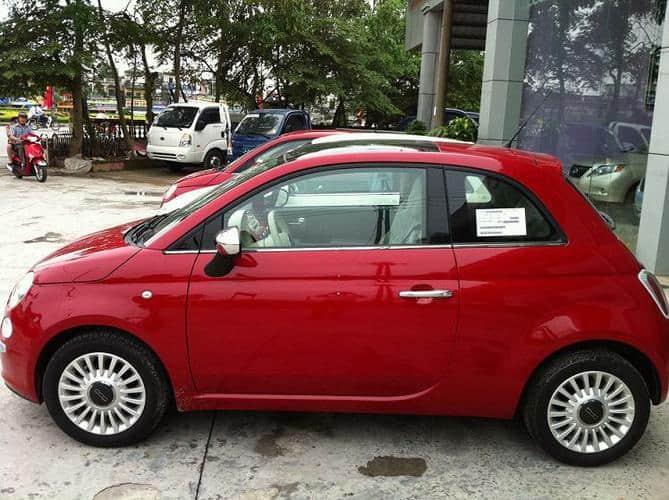 Xe ô tô Fiat có kích thước nhỏ gọn và tinh tế