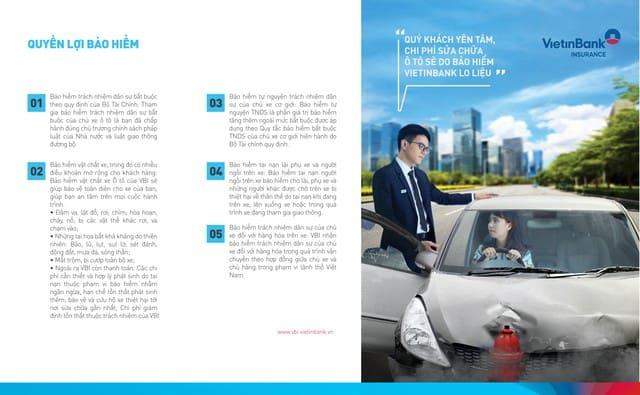 Mọi quyền lợi đều được ghi rõ trên hợp đồng bảo hiểm Vietinbank VietinCar