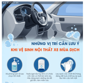12 vị trí cần lưu ý khi vệ sinh nội thất ô tô để phòng dịch Covid-19 2
