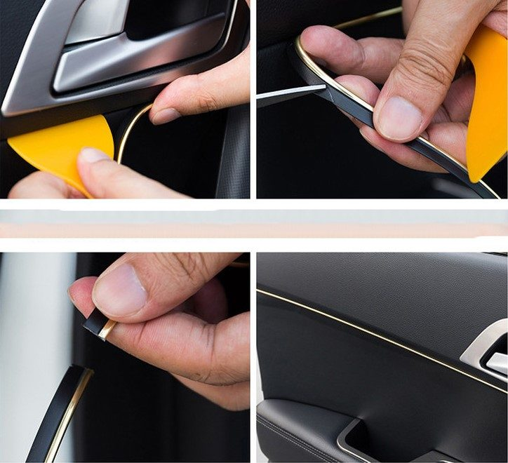 how to install only the interior of the car