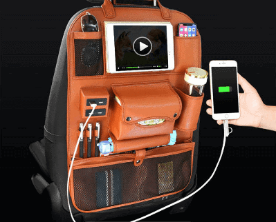 PREMIUM CAR SEAT BAG FOR IPAD WITH 4 USB PORTS 1 Thanh Phong Auto HCM