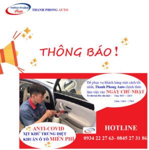 Thông Báo Lịch Làm Việc Ngày Chủ Nhật 2 Thanh Phong Auto HCM