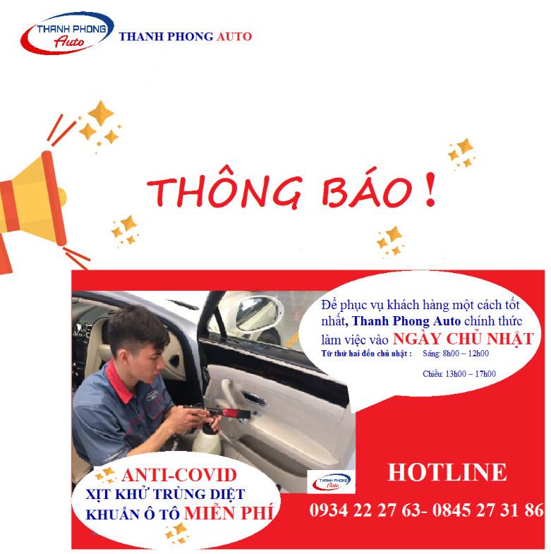 Thông Báo Lịch Làm Việc Ngày Chủ Nhật 1 Thanh Phong Auto HCM