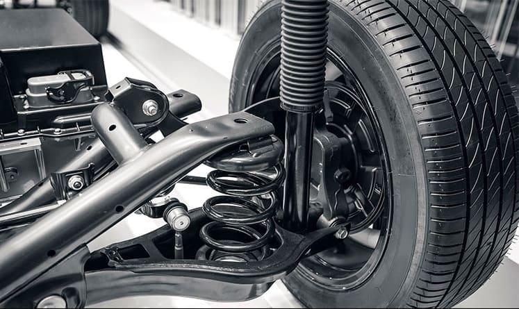 Kiểm tra ống nhún và lò xo bộ phận giảm xóc