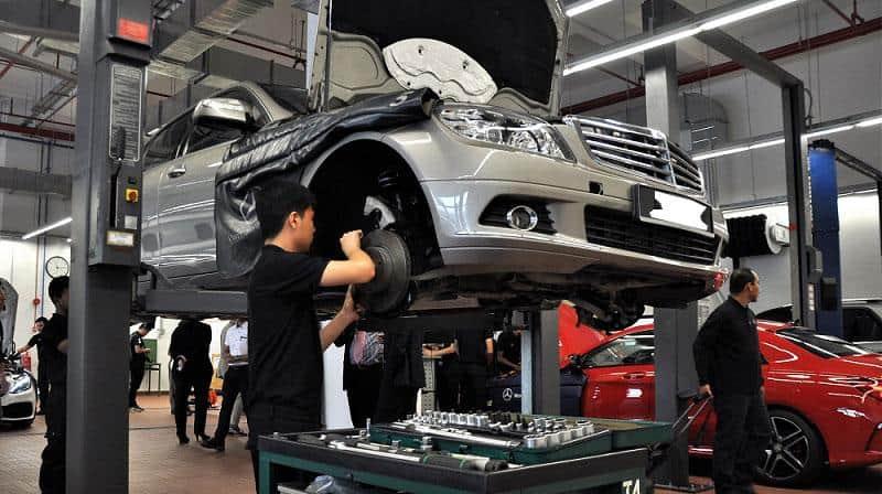 gara sửa chữa bảo dưỡng ô tô uy tín nhất quận 2